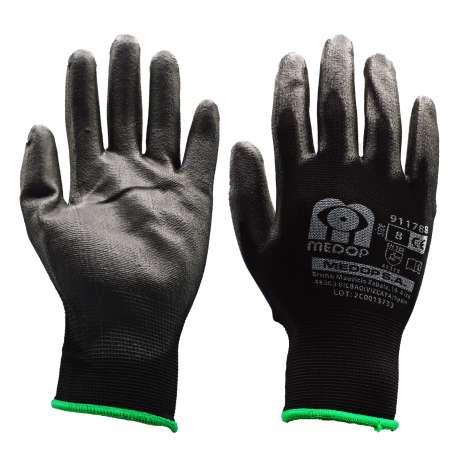 Black Work Gloves - Size 8
