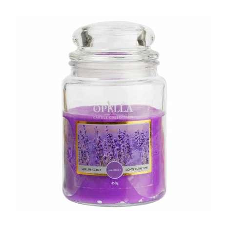 Opella Jumbo Jar Scented Candle 450g - Lavender