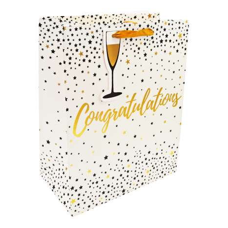 Large Gift Bags - Congratulations (26.5cm x 33cm)