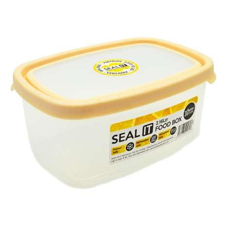 Wham Seal It Rectangle Food Box 2.16 Litre - Cream