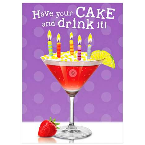Garlanna Greeting Cards Code 50 - Cocktails
