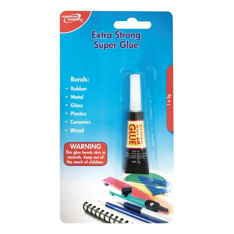 Extra Strong Superglue (1 x 3g) Homeware Essentials