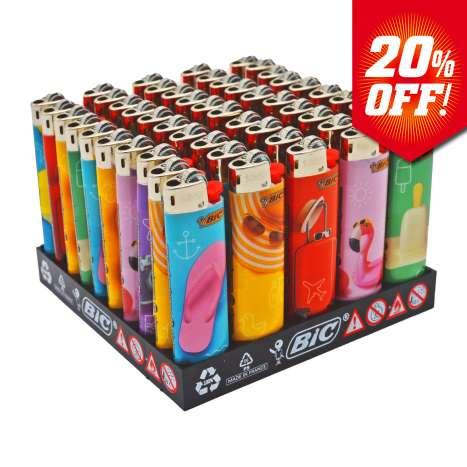 BIC Slim Flint Lighters J23 Decor - Holliday