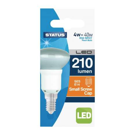 4W = 40W status small screw cap LED R50 spot bulb single