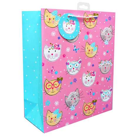 Large Gift Bags - Cats (26cm x 32cm)