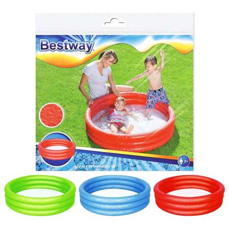 "Children's Paddling Pool - 48"" x 10"" - Assorted Colours"