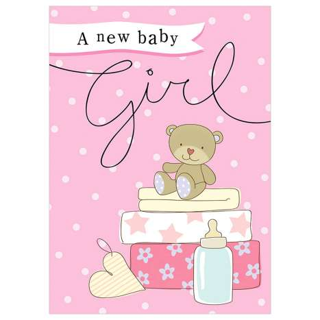 Garlanna Greeting Cards Code 50 - Baby Girl