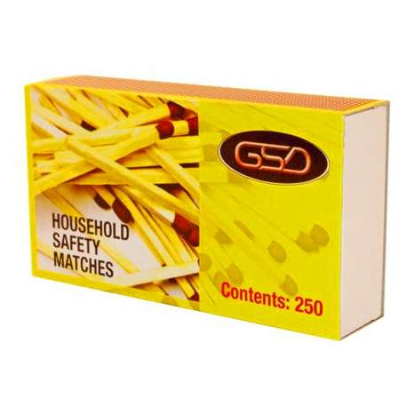 GSD Household Safety Matches 250 Sticks