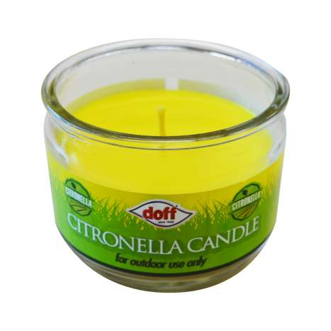Doff outdoor citronella candle (diam 100mm x H 85mm)