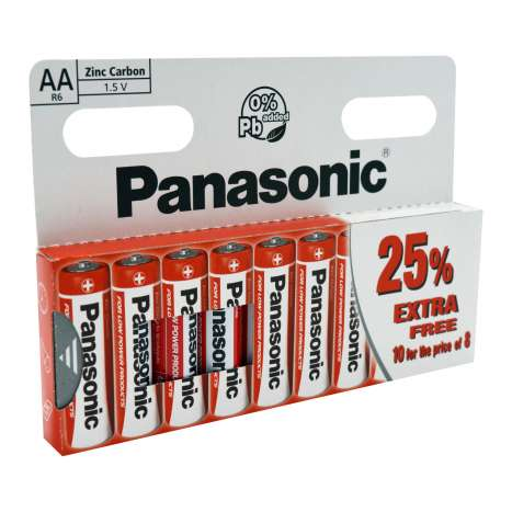 Panasonic AA Batteries 10 Pack