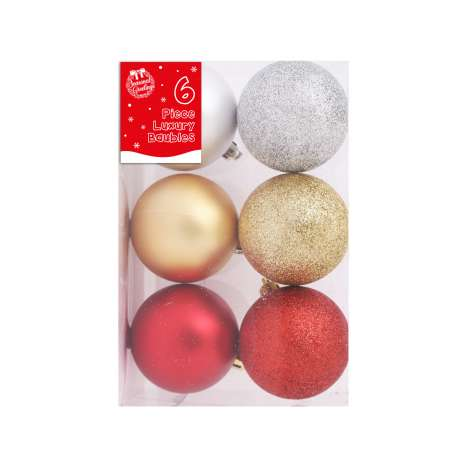 Baubles - gold, silver & red