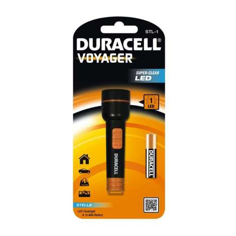 Duracell voyager LED pocket torch (includes 1x AAA)