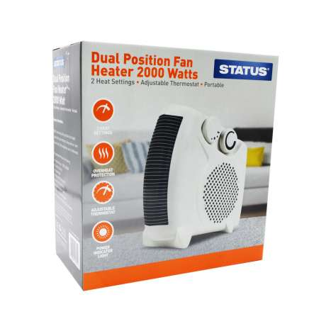 Status Dual Position Fan Heater 2000 Watts