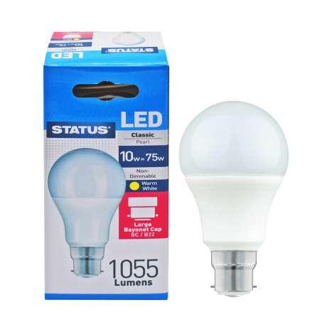 Status LED 10w=75w Classic Bayonet Cap Light Bulb