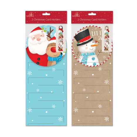 Christmas card holders 2PK cute