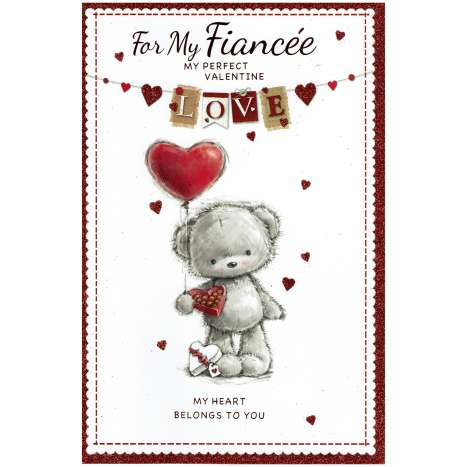 Valentines Day Cards - Fiancee (Code 75 - cellophane wrapped)