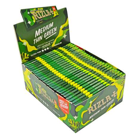 Rizla Green Medium Thin Rolling Papers 32 Pack - King Size