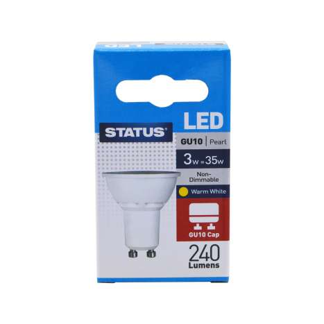 Status LED 3w=35w GU10 Cap Light Bulb