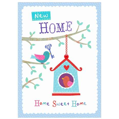 Garlanna Greeting Cards Code 50 - New Home
