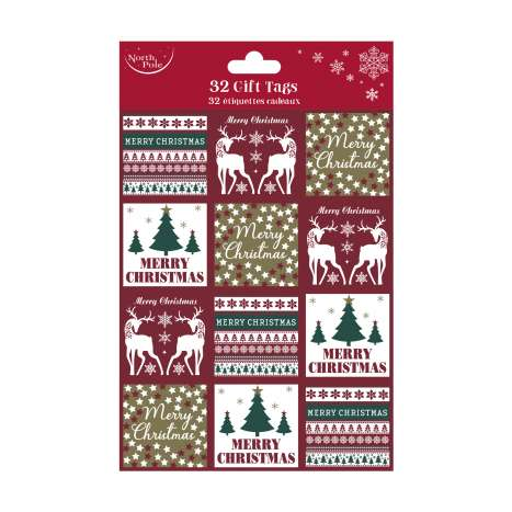 Contemporary Christmas Gift Tags 32 Pack