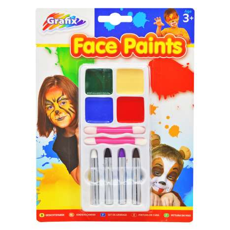 Face Paints, Crayons and Applicators