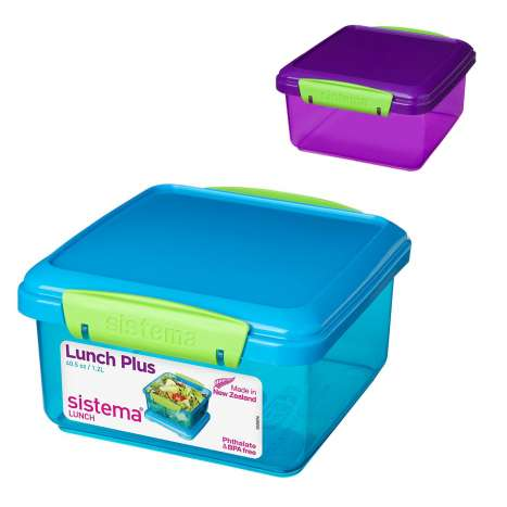 Sistema 1.2L lunch plus box - assorted colours