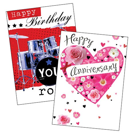 Greeting cards (large) code 75