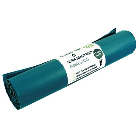 Rubble sacks h/d roll of 6 - appx 104cm(r) x 75cm(l)