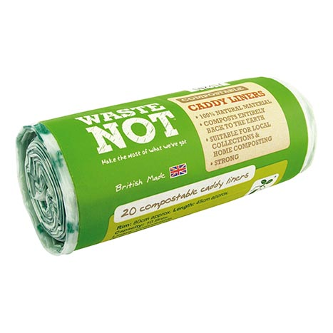 Waste Not Compostable Caddy Liners 10 Litre - Roll of 20