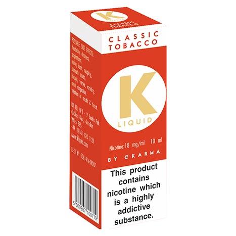 K liquid - classic tobacco