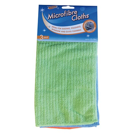 Homeware Essentials Microfibre Cloths 3 Pack