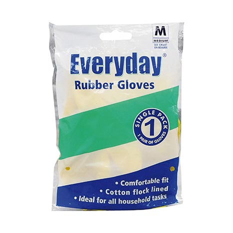 Everyday rubber gloves - medium