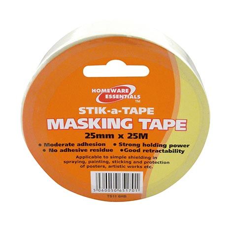 Homeware Essentials Masking Tape 25mm x 25m