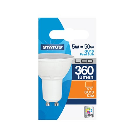 Gu10 led bulb single 5w = 50w
