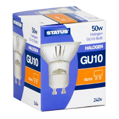 50w status gu10 240v halogen - single pk (display)