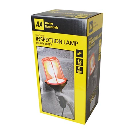 Hand held inspection lamp 13amp 5 mtr