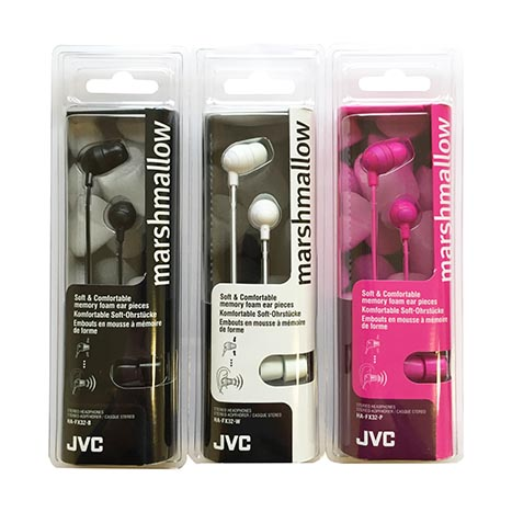 Headphones marshmallow (asstd case 2 wte / 2 blk / 1 pnk)