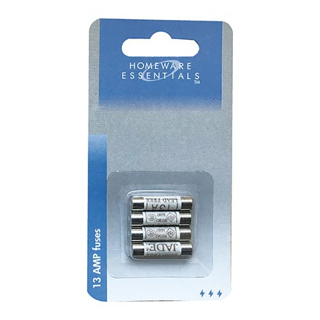 Homeware Essentials 13 Amp Fuses 4 Pack