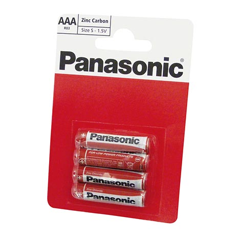 Panasonic batteries 4 pack Ro3 - AAA