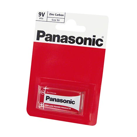 Panasonic batteries single pack R22 - 9V