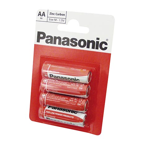 Panasonic batteries 4 pack R6 - AA