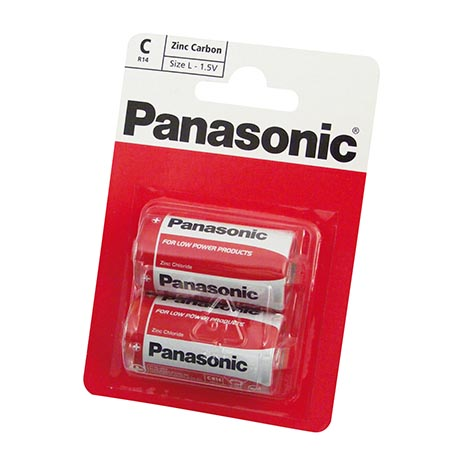 Panasonic batteries 2 pack R14 - C