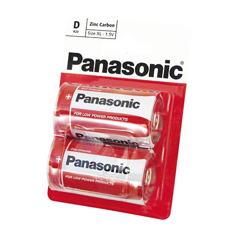 Panasonic batteries 2 pack R20 - D
