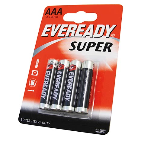 Eveready super h/duty batteries 4PK AAA