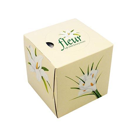 Fleur luxury whte tissue 100 x 2ply (190x215mm)