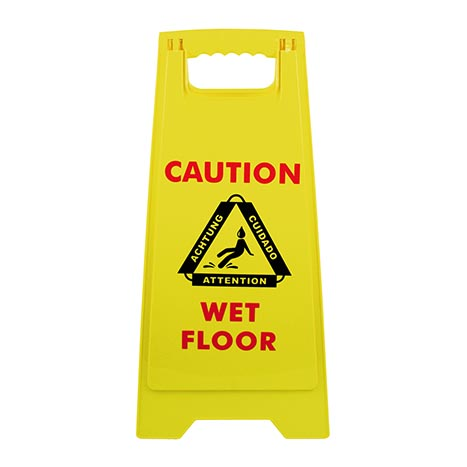 Wet floor sign (height 62cm)