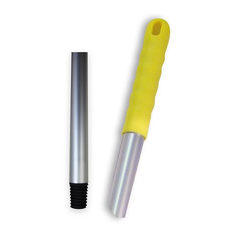 Aluminium mop handle 120cm - yellow tip