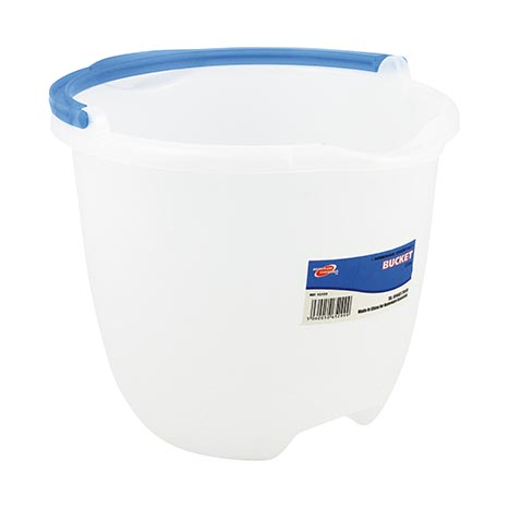 Bucket 12 litre - clear / blue