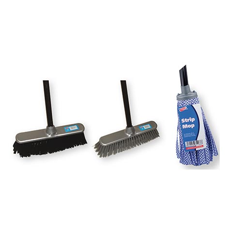 Broom/mop refill pk (broom£3.79 / mop£3.05 - avg sell £3.54)