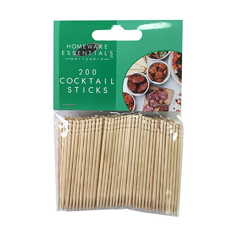 H/ess wooden cocktail stick 200pce